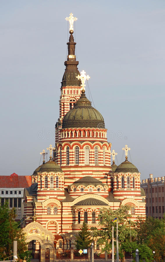 Catedral do aviso, Kharkiv, Ucrânia imagem de stock royalty free