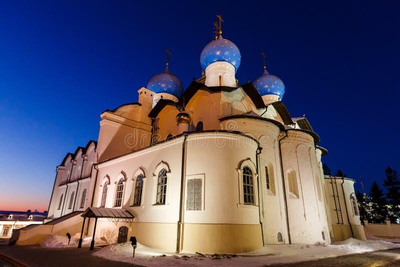 Catedral do aviso do Kremlin de Kazan imagem de stock