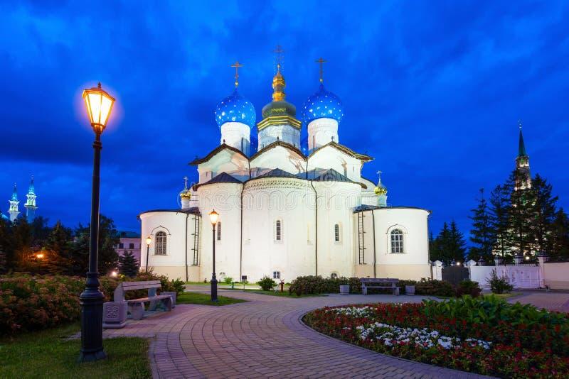 Catedral do aviso, Kremlin de Kazan fotos de stock royalty free