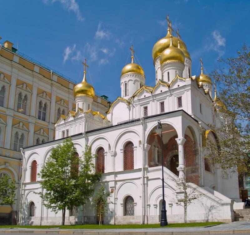 Catedral do aviso, Kremlin, Moscovo fotos de stock royalty free