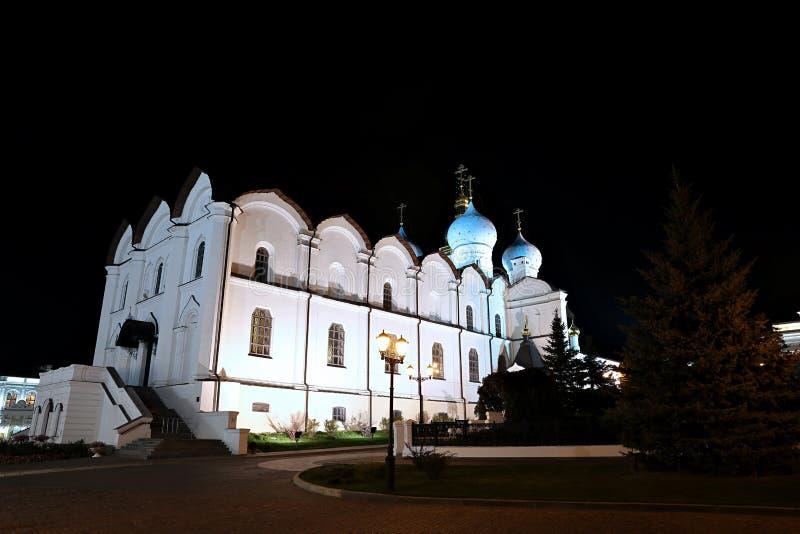 Catedral do aviso no Kazan Kremlin fotografia de stock royalty free