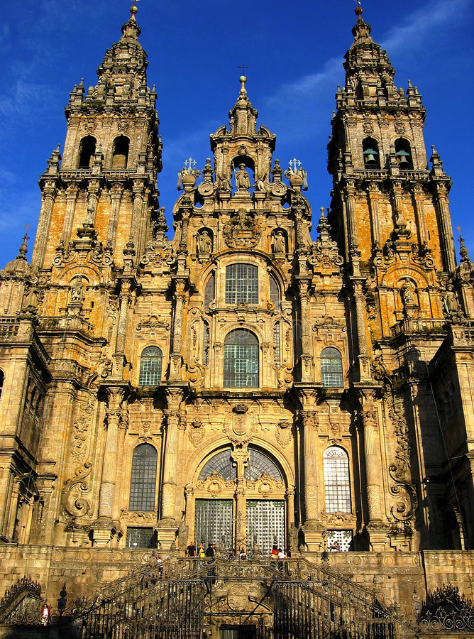 Catedral do compostela de Santiago fotografia de stock