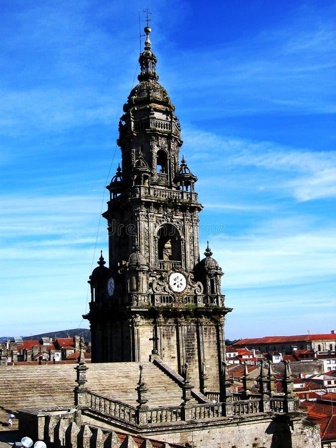 Catedral do compostela de Santiago fotos de stock royalty free