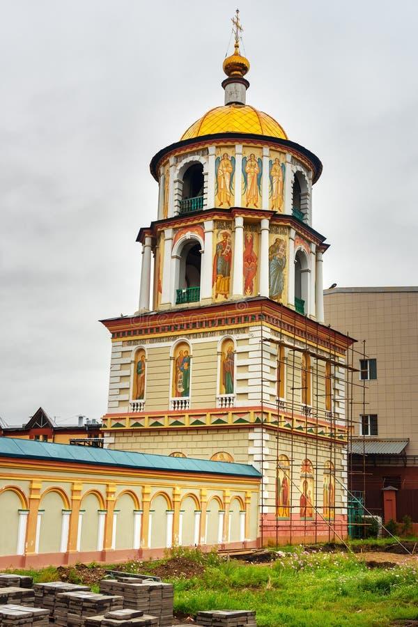 Catedral do esmagamento em Irkutsk Rússia foto de stock royalty free