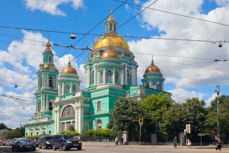 Catedral do esmagamento em Yelokhovo em Moscou foto de stock