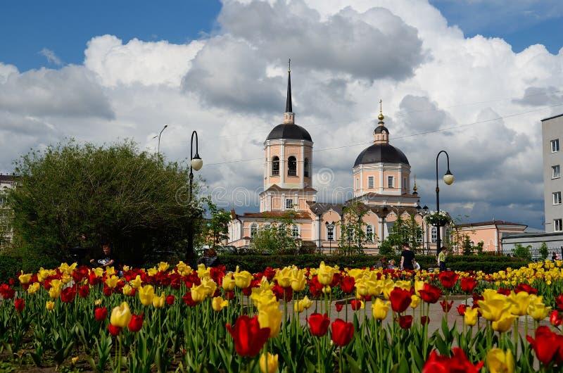 Catedral do esmagamento, Tomsk foto de stock royalty free