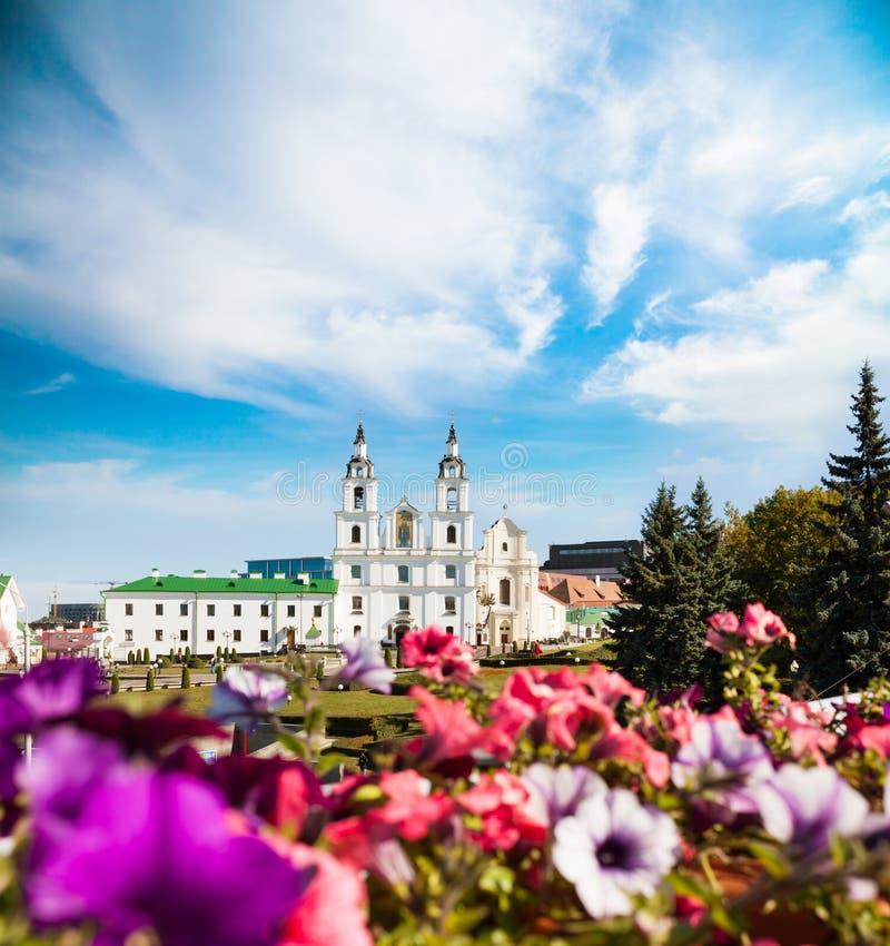 Catedral do Espírito Santo em Minsk, Bielorrússia imagens de stock royalty free