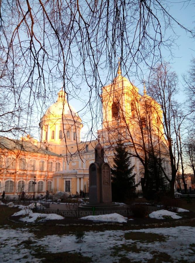 Catedral do inverno imagem de stock