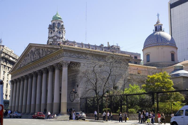 A catedral do metropolita de Buenos Aires fotos de stock royalty free