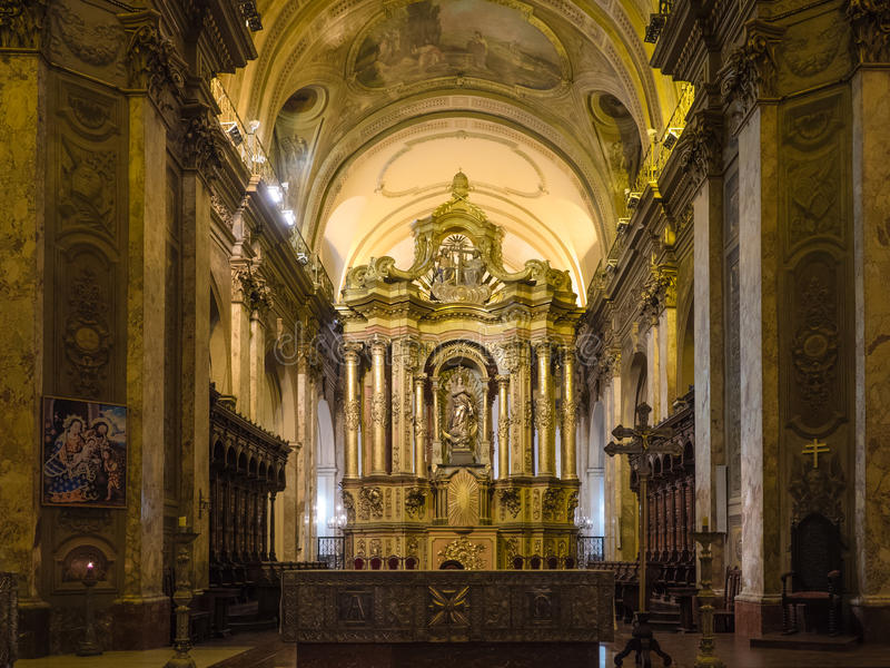 Catedral do metropolita de Buenos Aires imagens de stock