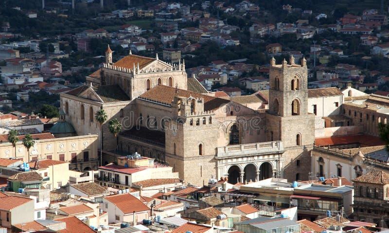 A catedral do monreale, perto de palermo fotografia de stock