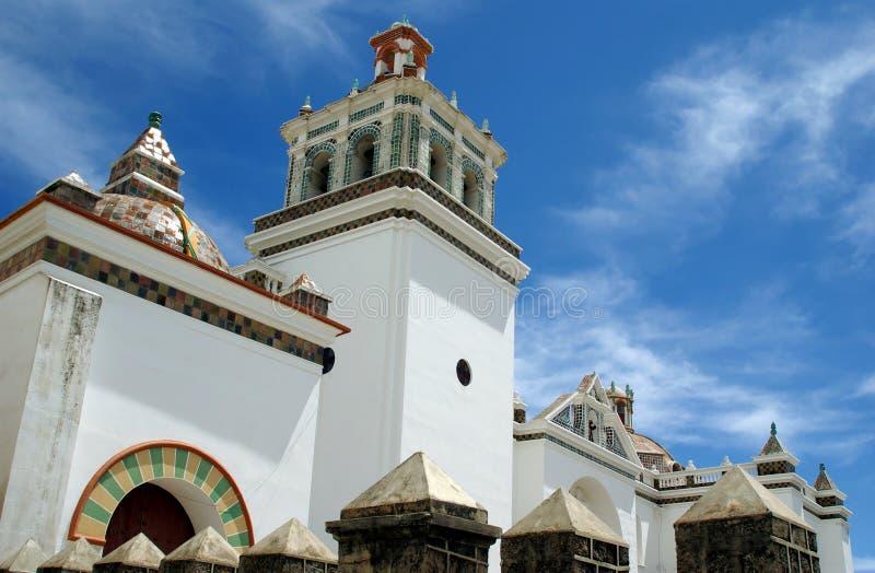 Catedral do Moorish, Bolívia imagens de stock