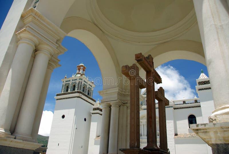 Catedral do Moorish - Copacabana, Bolívia imagem de stock