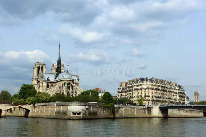 Catedral do Notre Dame de Paris imagem de stock