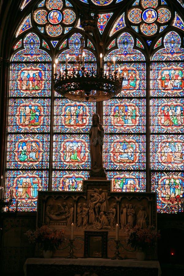 Catedral do Notre Dame de Paris fotos de stock royalty free
