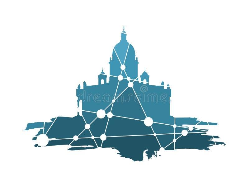 Catedral do ` s de Isaac de Saint em St Petersburg Rússia ilustração royalty free