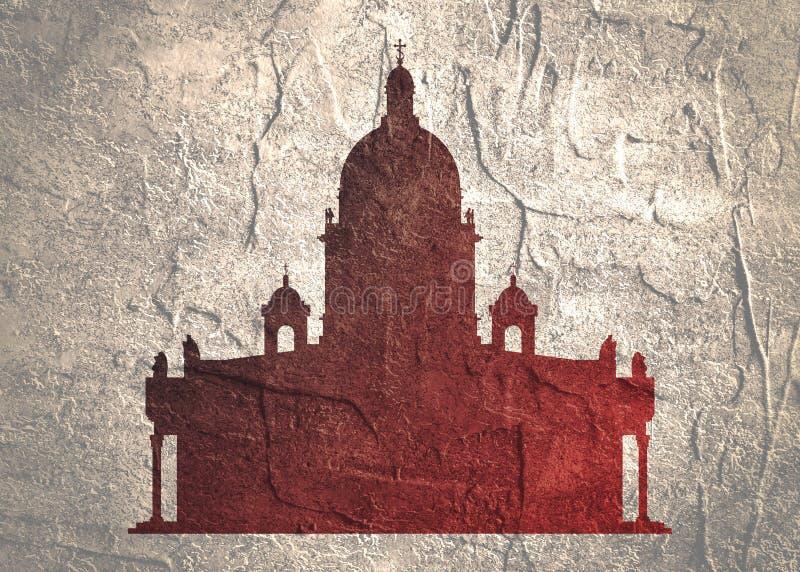 Catedral do ` s de Isaac de Saint em St Petersburg Rússia ilustração do vetor