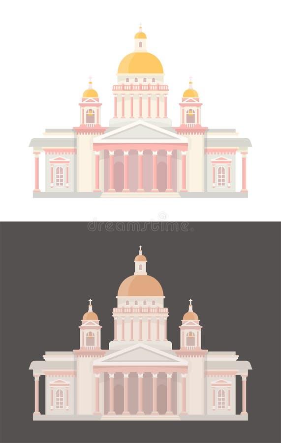 Catedral do `s de Isaac de Saint ilustração stock