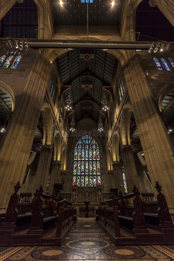 A catedral do ` s de St Andrew é a igreja da catedral da diocese anglicana de Sydney fotografia de stock