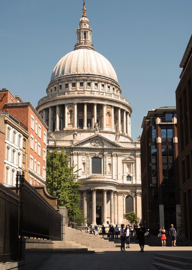 Catedral do ` s de St Paul na cidade de Londres, Reino Unido Em julho de 2018 imagens de stock royalty free