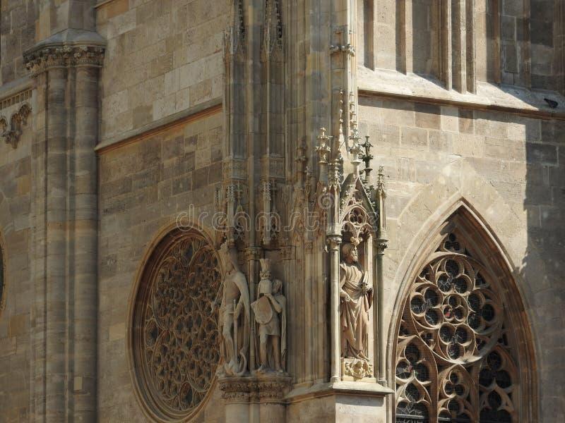 Catedral do ` s de St Stephen em Viena, Áustria em um dia bonito do outono foto de stock