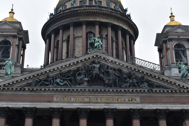 Catedral do ` s do St Isaac de St Petersburg foto de stock