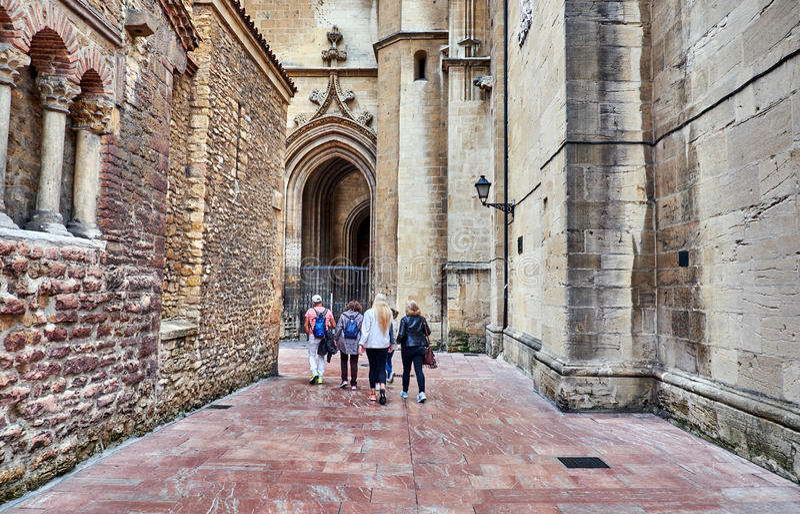 Catedral do San Salvador em Oviedo, Espanha fotos de stock royalty free