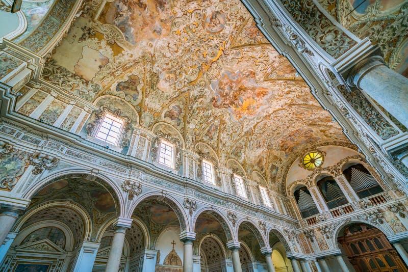 Catedral do Santissimo Salvatore em Mazara del Vallo, cidade na província de Trapani, Sicília, Itália do sul foto de stock