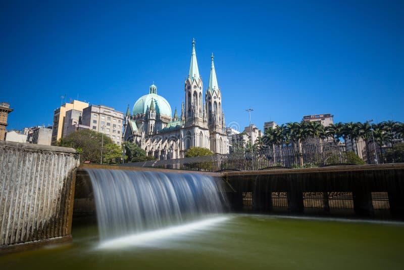 Catedral do SE em Sao Paulo do centro imagens de stock royalty free