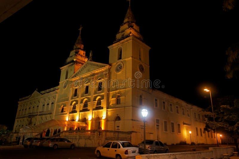 Catedral do SE no Sao Luis da noite imagens de stock royalty free