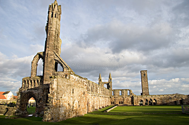 Catedral do St Andrews, Scotland fotografia de stock royalty free