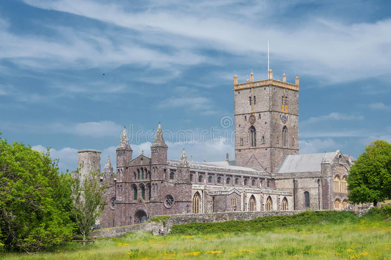 Catedral do St. Davids, Gales fotos de stock royalty free