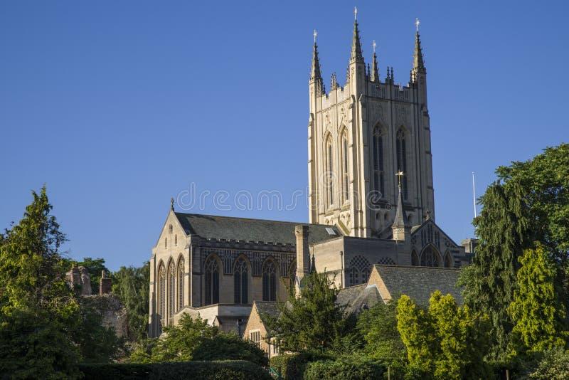 Catedral do St Edmundsbury em St Edmunds do enterro fotografia de stock