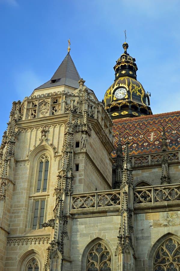Catedral do St Elisabeth ou ¾ Kosice bety Eslováquia de AlÅ do svätej do ³ m de Dà fotografia de stock