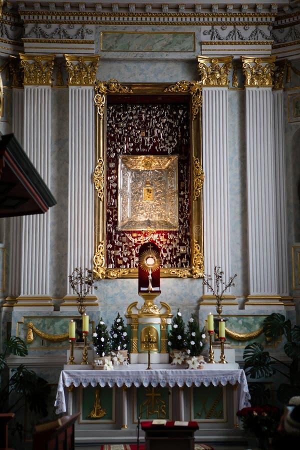 Catedral do St Francis Xavier, Grodno, Bielorrússia foto de stock royalty free