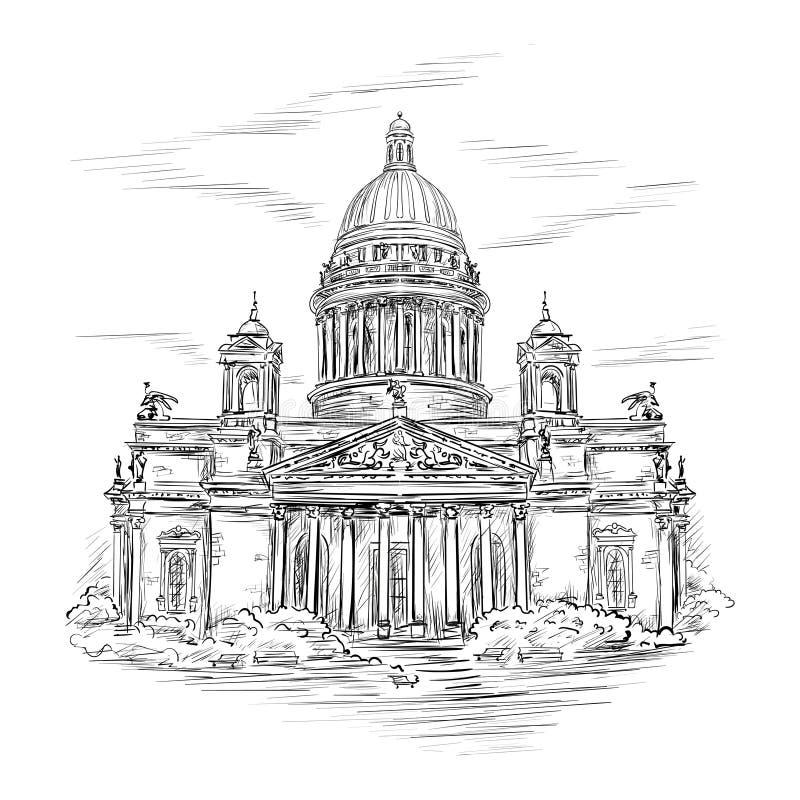 Catedral do St Isaac ilustração royalty free