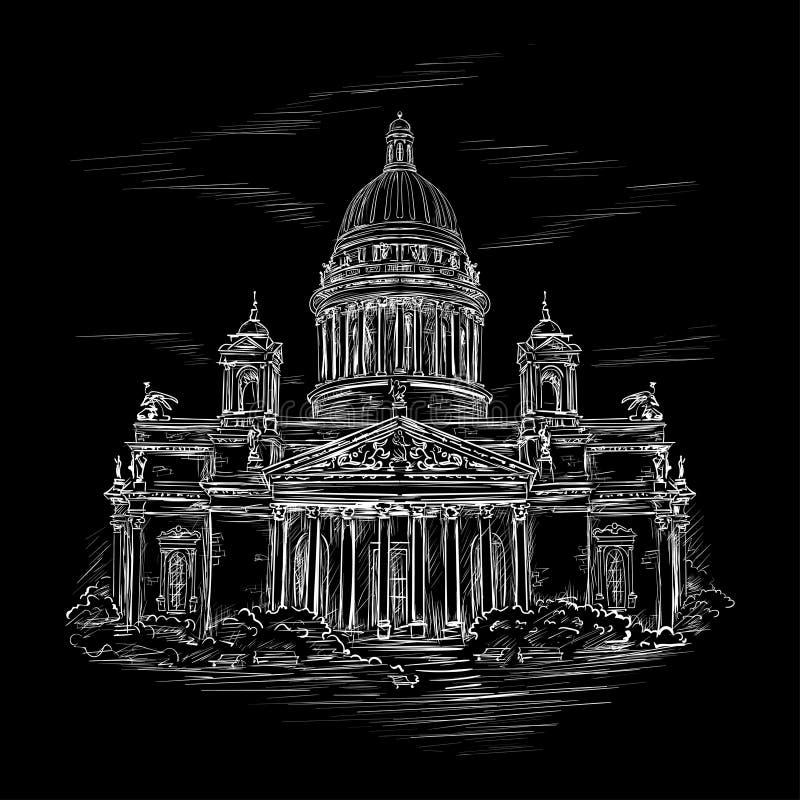 Catedral 2 do St Isaac ilustração stock