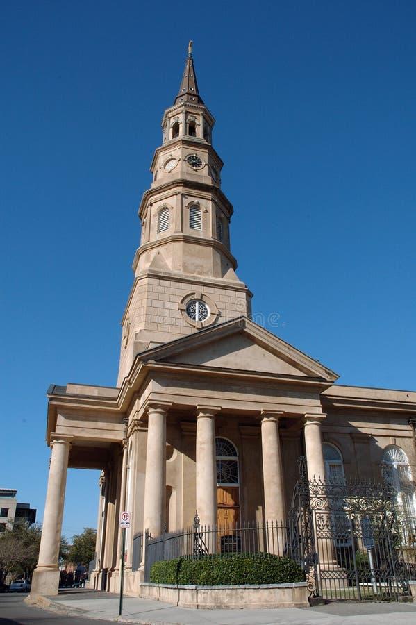 Catedral do St. Phillip de Charleston imagem de stock