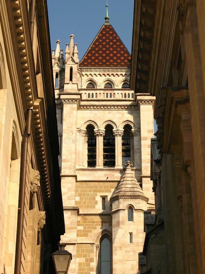 Catedral do St. Pierre, Genebra foto de stock