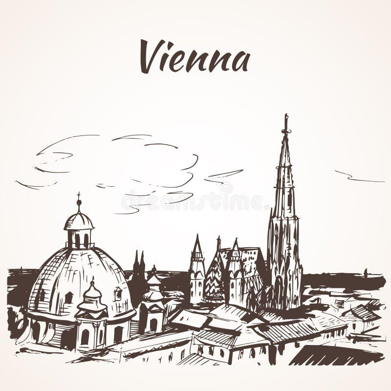 Catedral do St Stephen, Viena ilustração do vetor