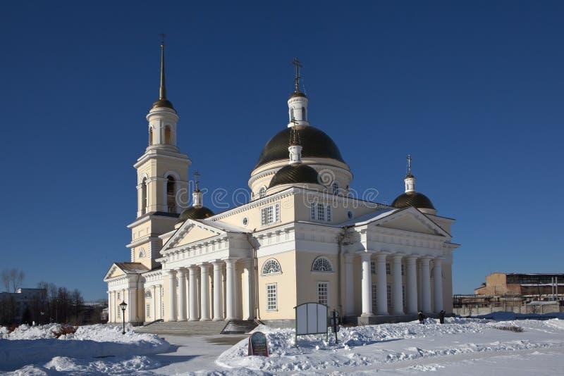 Catedral do Transfiguration Nevyansk Região de Sverdlovsk Rússia foto de stock