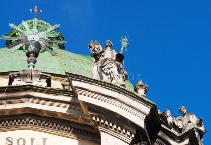 Catedral dominiquense em Lviv fotografia de stock royalty free