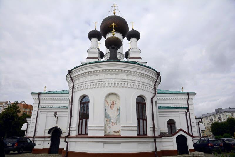 A Catedral dos Três Santos é a principal igreja ortodoxa de Mogilev Bielorrússia foto de stock royalty free