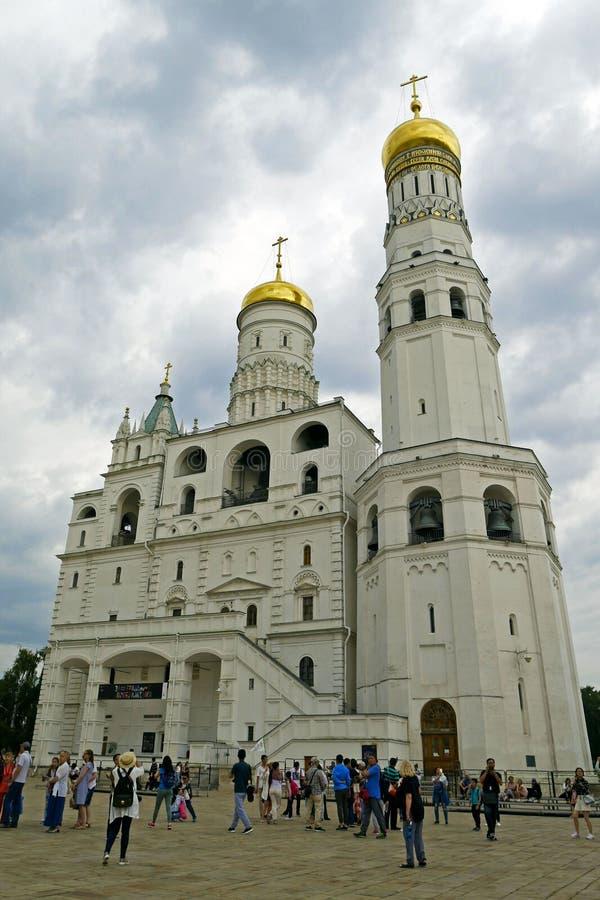 Catedral e Ivan del arcángel la gran Bell en la Moscú el Kremlin moscú Rusia imagen de archivo libre de regalías
