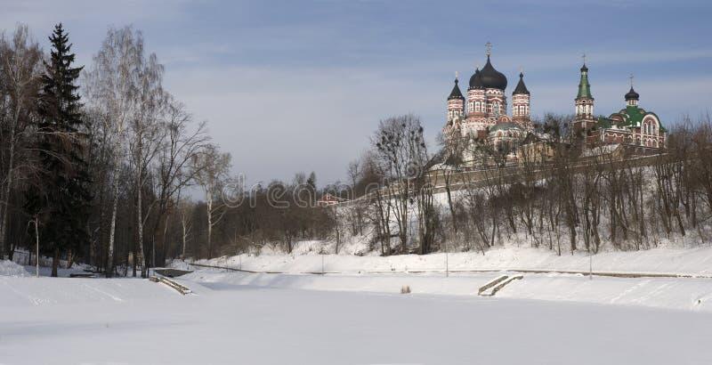 Download Catedral E Nunnery Em Feofania (Kiev) Imagem de Stock - Imagem de edifícios, edifício: 12812867