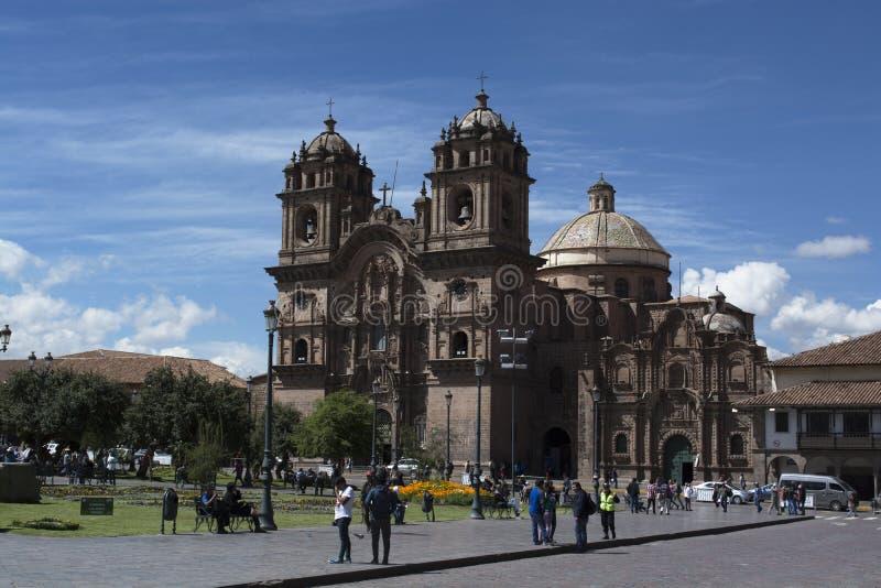 Catedral e quadrado de Cuzco fotografia de stock royalty free
