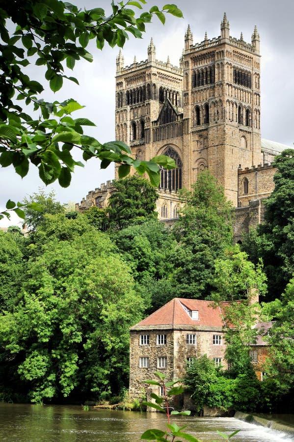 Catedral e Weir de Durham fotos de stock royalty free