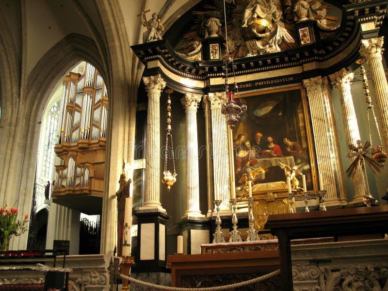 Catedral em Antuérpia imagens de stock
