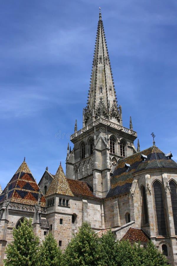 Catedral em Autun fotografia de stock