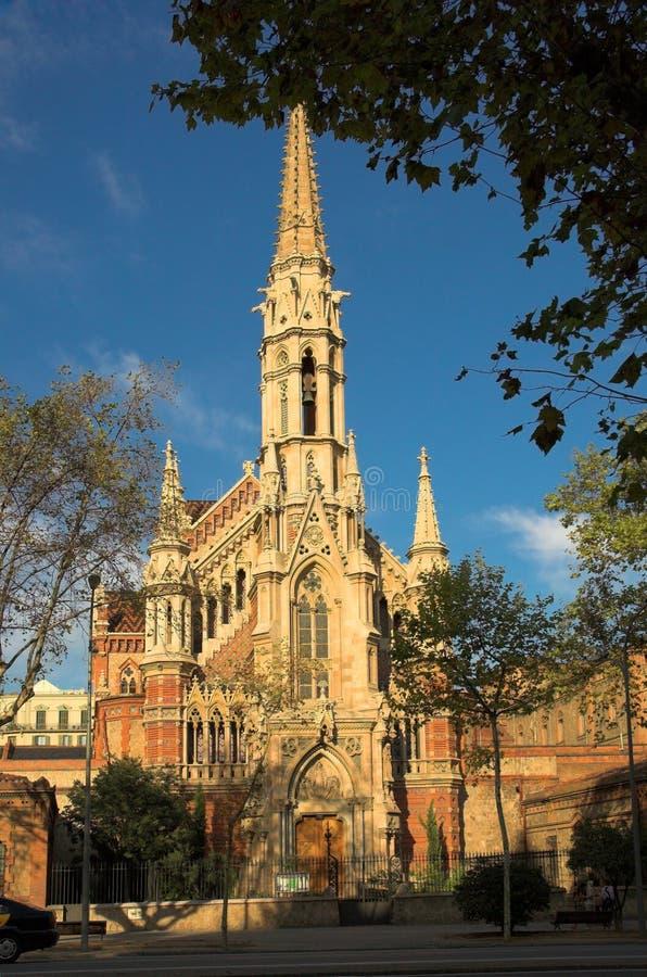 Catedral em Barcelona fotos de stock royalty free